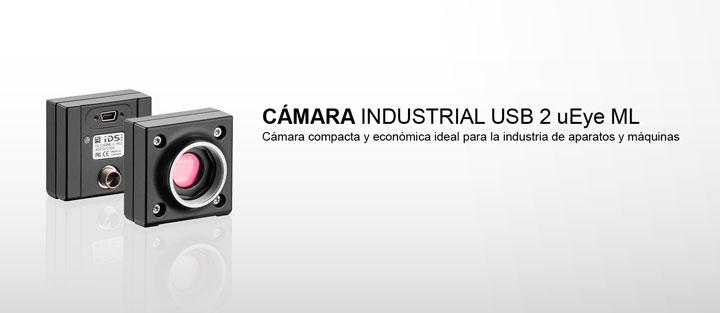 ---IDS cámara industrial USB 2 uEye ML en la versión monocromo, color y NIR, com CMOS