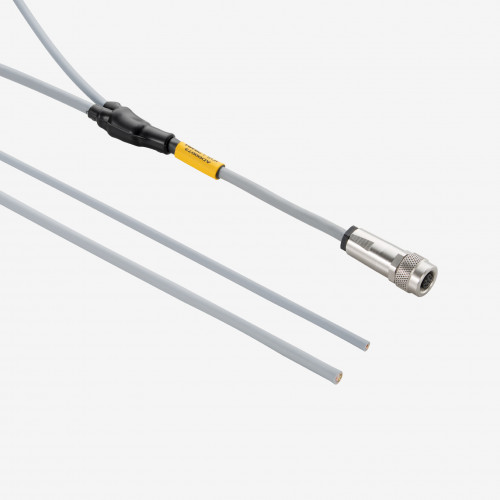 E/S + alimentación  eléctrica, cable en Y, IP 65/67, recto, 5 m