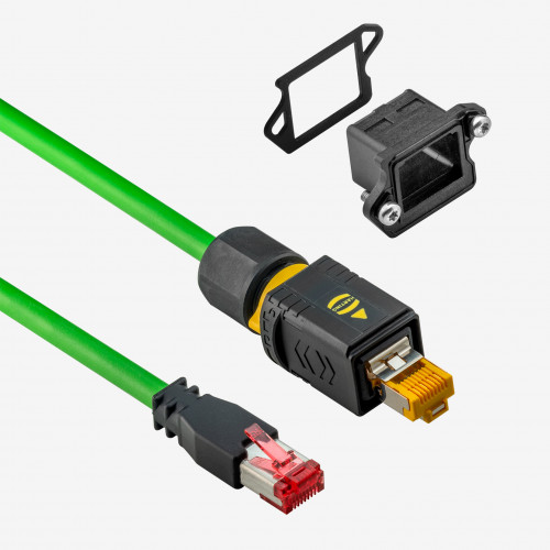 GigE, cable latiguillo,  cadena porta, IP65/67, push/pull 10 m