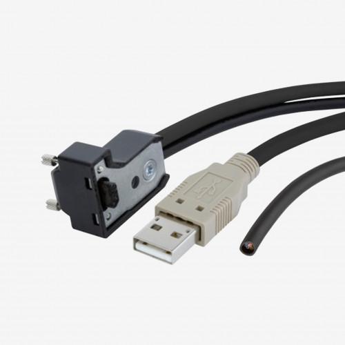 Cable E/S con 4 además  cordones, ángulo, atornillable, 5 m